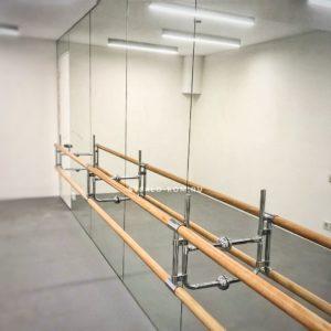 Хореографический станок с зеркалами под ключ