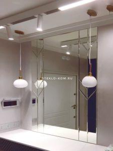 Пример изготовления зеркального панно для ванной комнаты
